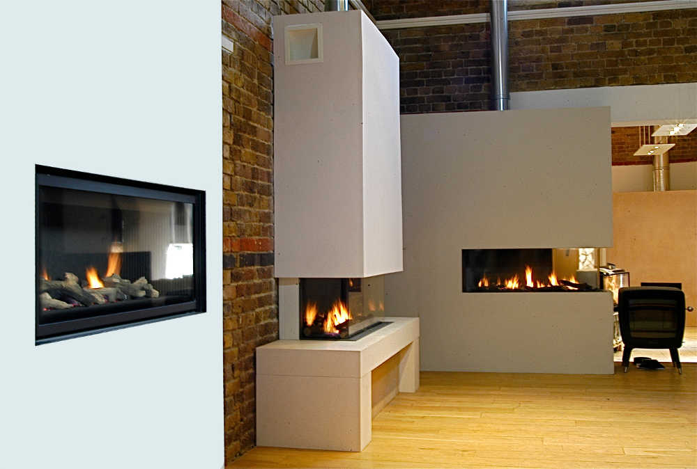 High Efficiency Gas Fires collection on display in our Showroom