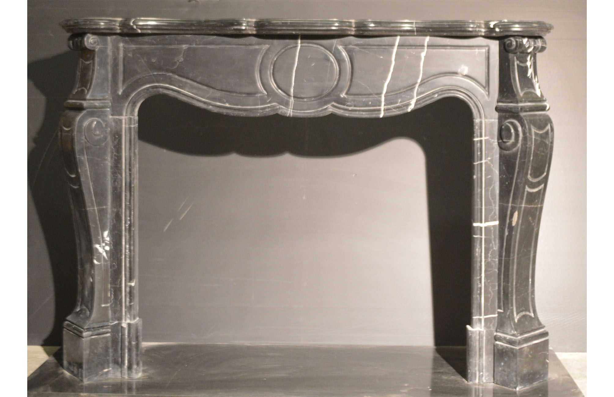 Refurbished Louis Xv In Nero Marquina Marble Stonewoods